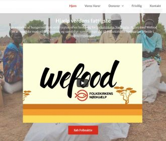 WEFOOD - Website, animation video, and a report. I redid Wefoods website to be more clear about their concept, mission and vision. I have done all the material on the website. The site is developed in Worpress.